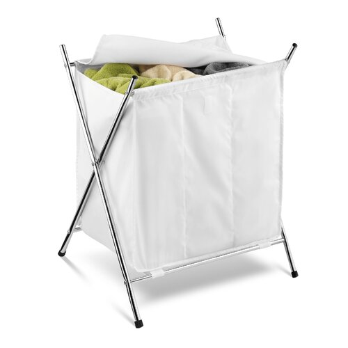 Honey Can Do 3 Compartment Folding Hamper with Cover