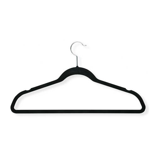 Honey Can Do Velvet Touch Suit Hanger in Black (20 Pack)