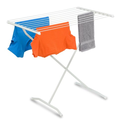B1057833X-Frame Folding Metal Drying Rack in White