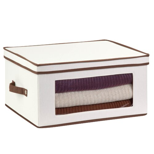 Honey Can Do Canvas Large Window Storage Chest