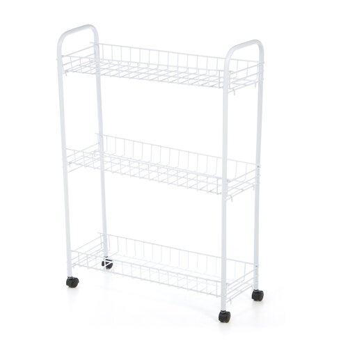 "Honey Can Do 31.3"" 3 Tier Rolling Household Cart"