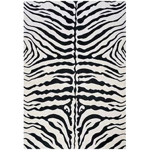 Zebra Rug Wayfair: LA Rugs Supreme Black/White Zebra Print Area Rug & Reviews