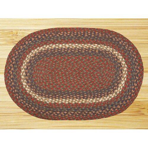 Earth Rugs Burgundy/Gray Multi Rug