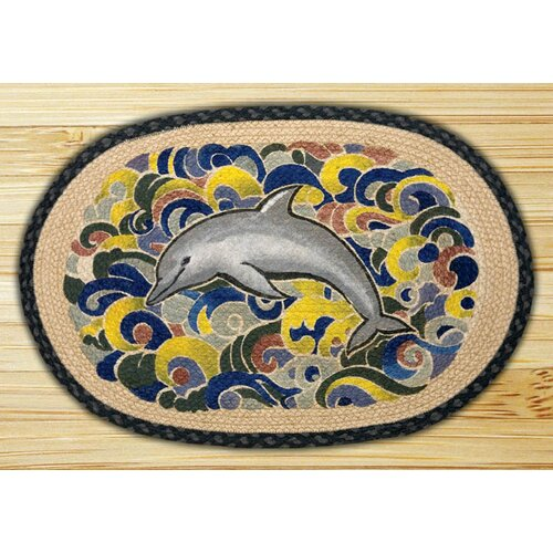 Earth Rugs Dolphin Novelty Rug