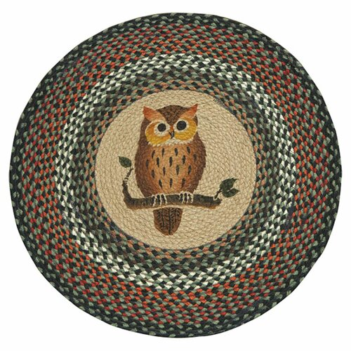 EarthRugs Owl Novelty Natural Area Rug & Reviews