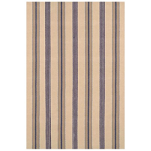 Dash and Albert Rugs Woven Nimes Ticking Rug