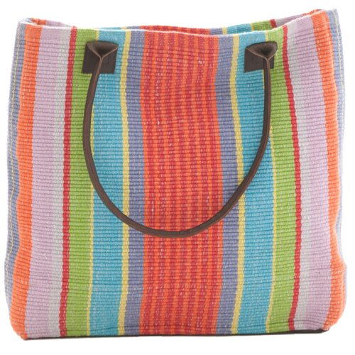 Dash and Albert Rugs Garden Stripe Woven Cotton Tote Bag