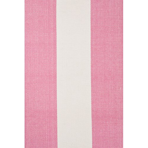 Dash and Albert Rugs Woven Yacht Pink/White Stripe Rug