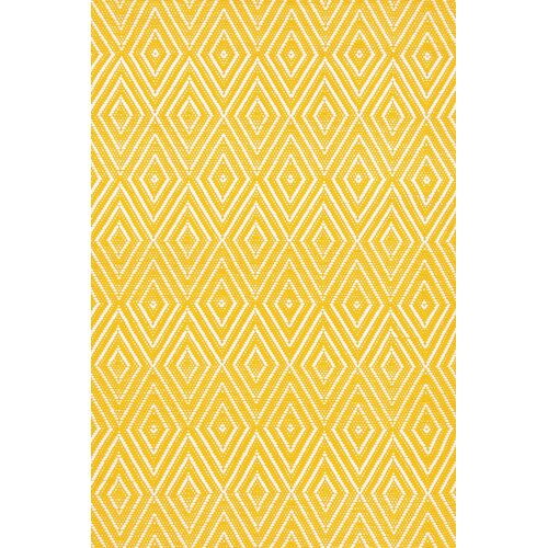 Dash and Albert Rugs Indoor/Outdoor Diamond Canary/White Rug