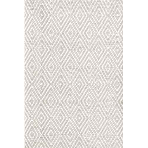 Dash and albert rugs diamond taupe white indoor outdoor for Dash and albert indoor outdoor rugs