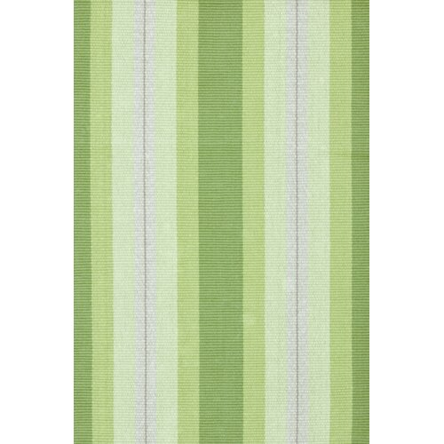 Dash And Albert Rugs Woven Cotton Thyme Ticking Green Area