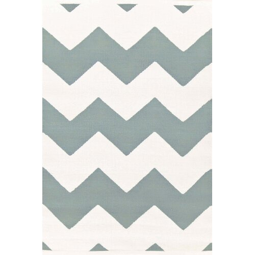 Chevron Light Blue/White Indoor/Outdoor Rug
