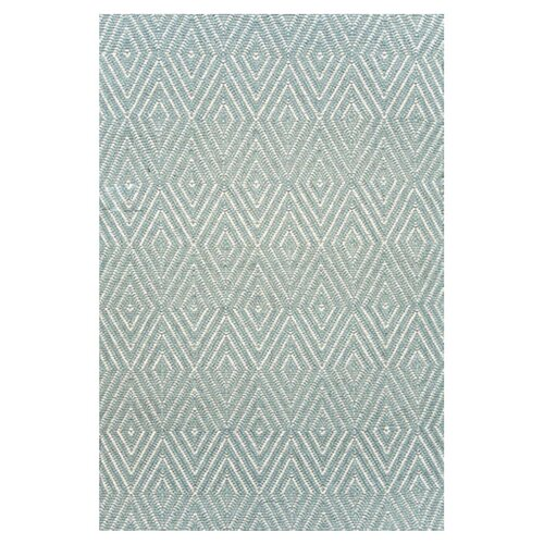 Woven Diamond Light Blue/Ivory Indoor/Outdoor Rug