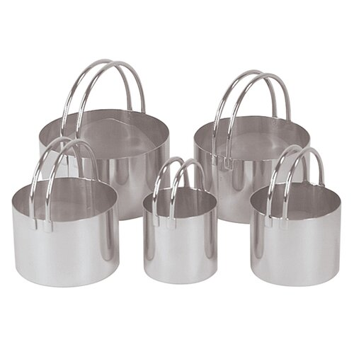 Fox Run Craftsmen 5 Piece Round Cookie Cutter Set