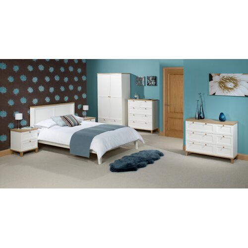 Home Zone Chicago Three Door Wardrobe in White
