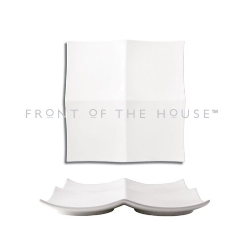 "Front Of The House Origami 10"" Sqaure Plate"