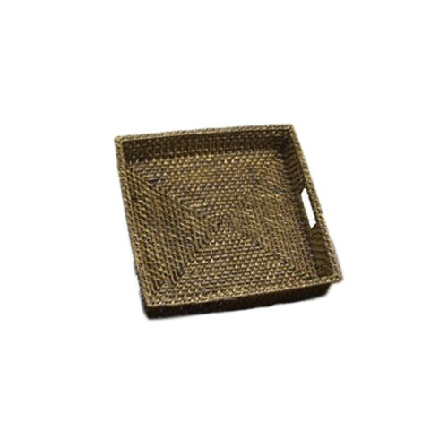 Front Of The House Rattan Square Serving Tray