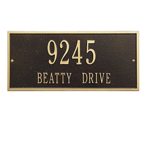 Whitehall Products Hartford Address Plaque