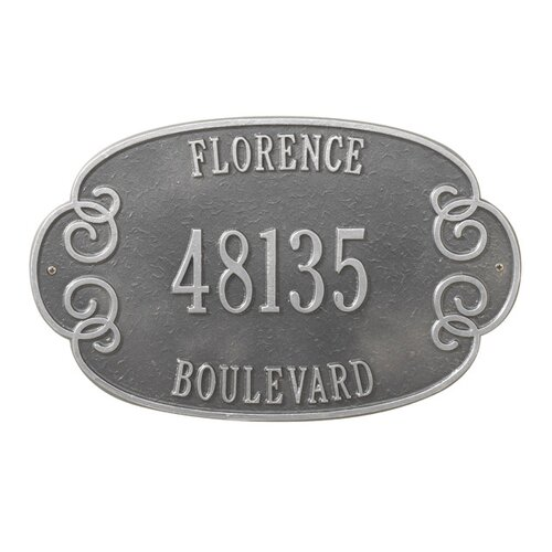 Whitehall Products Florence Address Plaque