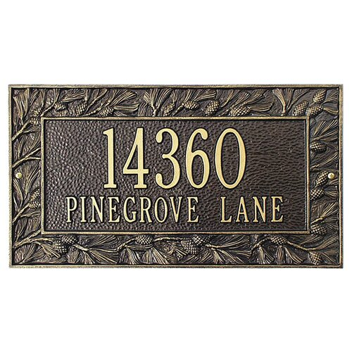Whitehall Products Pinecone Frame Standard Address Plaque