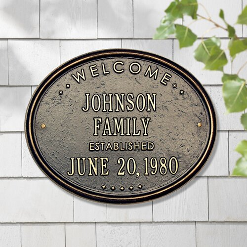 Whitehall Products Welcome 'Family' Garden Plaque