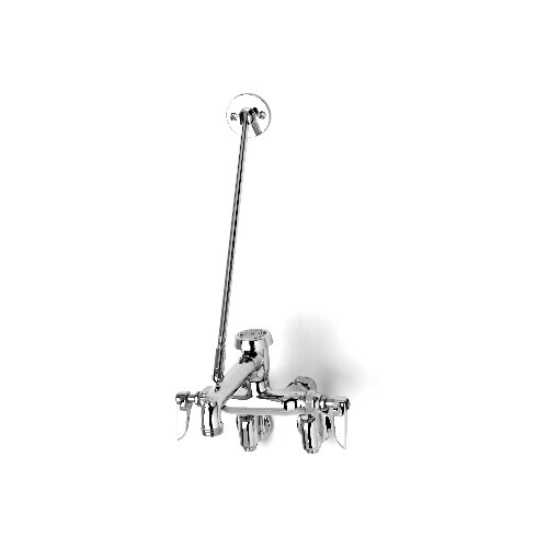 T&S Brass Wall Mount Service Sink Garage Faucets with Lever Handle