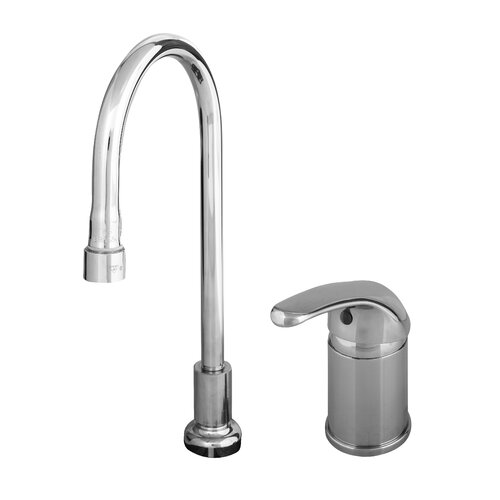 T&S Brass Widespread Bathroom Faucet with Single Lever Handle