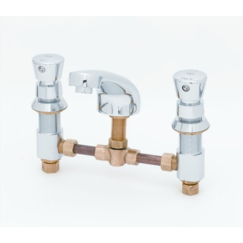 Widespread Bathroom Faucet with Push Handle