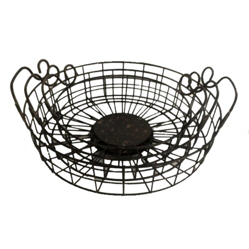 3 Piece Metal Round Wire Kellan Basket Set