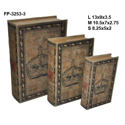 Crown Book Box (Set of 3)