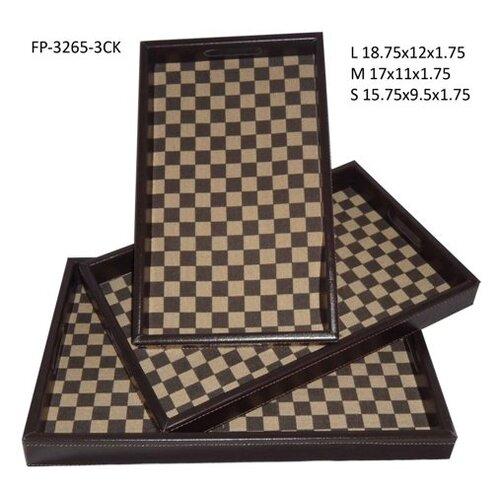 Cheungs Checker Rectangular Serving Tray (Set of 3)