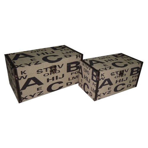 Alphabet Keepsake Box (Set of 2)