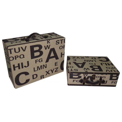 Alphabet Suitcase (Set of 2)