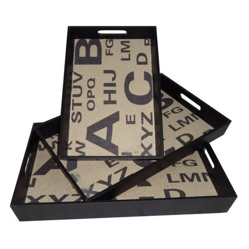 Cheungs Alphabet Rectangular Serving Tray (Set of 3)