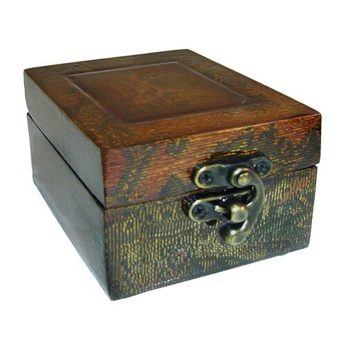 Cheungs Wooden Box with Swirl Design