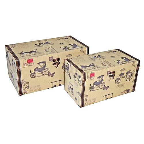 Rectangular Box with Carriage (Set of 2)
