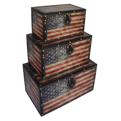 Cheungs American Flag Trunk (Set of 3)