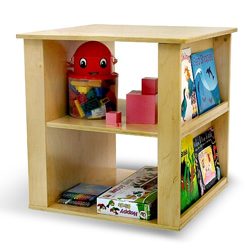 A+ Child Supply 2 in 1 Toy Book Cube Shelf
