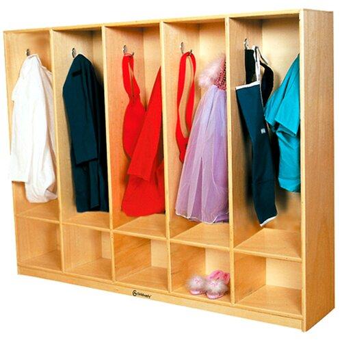 A+ Child Supply 5-Section Coat Locker