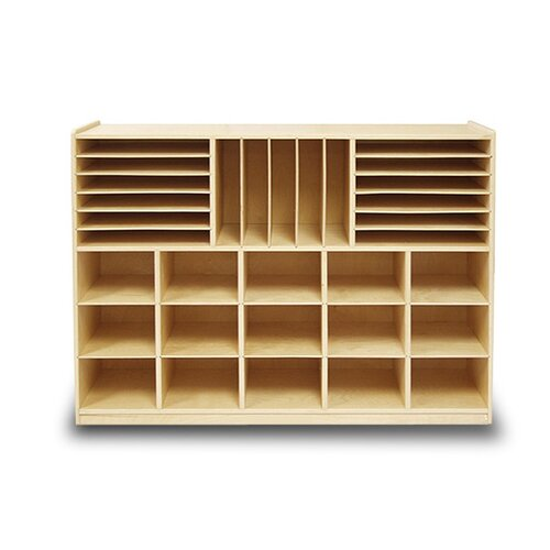 A+ Child Supply Art Station and File Organizer 32 Compartment Cubby