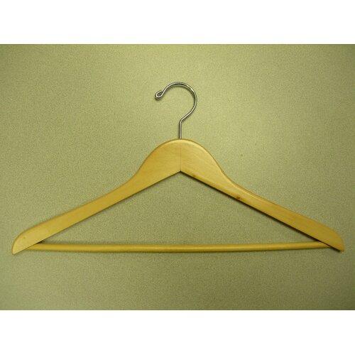 Genesis Flat Suit Hanger with Wooden Bar (Set of 50)