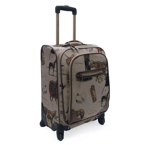 Oleg Cassini Pony Up Expandable Spinner Suitcase
