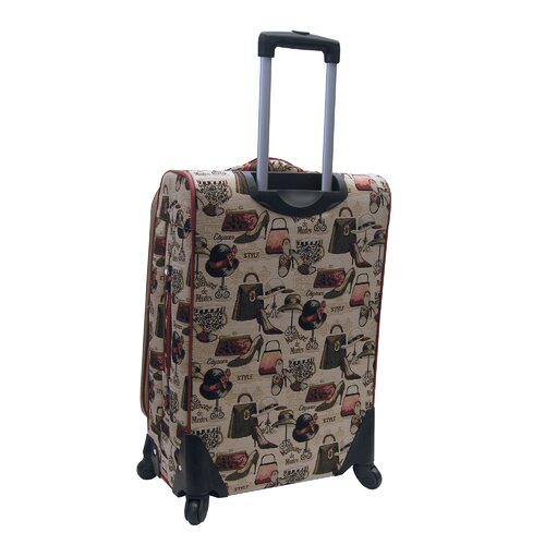 "Oleg Cassini Hats Off 24"" Expandable Spinner Suitcase"