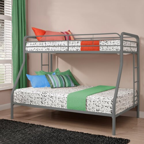 Dhp twin over full bunk bed with built in ladder ii Whats bigger full or twin