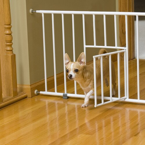Mini Pet Gate with Pet Door