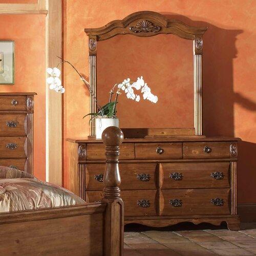 Greystone Bella 7 Drawer Dresser and Mirror Set