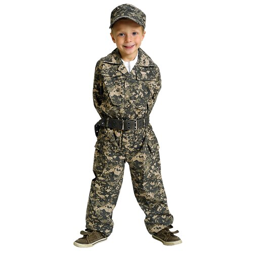 Jr. Camouflage Suit with Cap and Belt