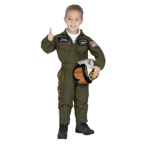 Jr. Armed Forces Pilot Suit with Helmet Costume