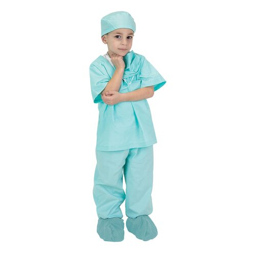Jr. Dr. Scrubs Costume in Green