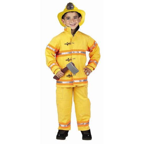 Jr. Fire Fighter Suit in Yellow